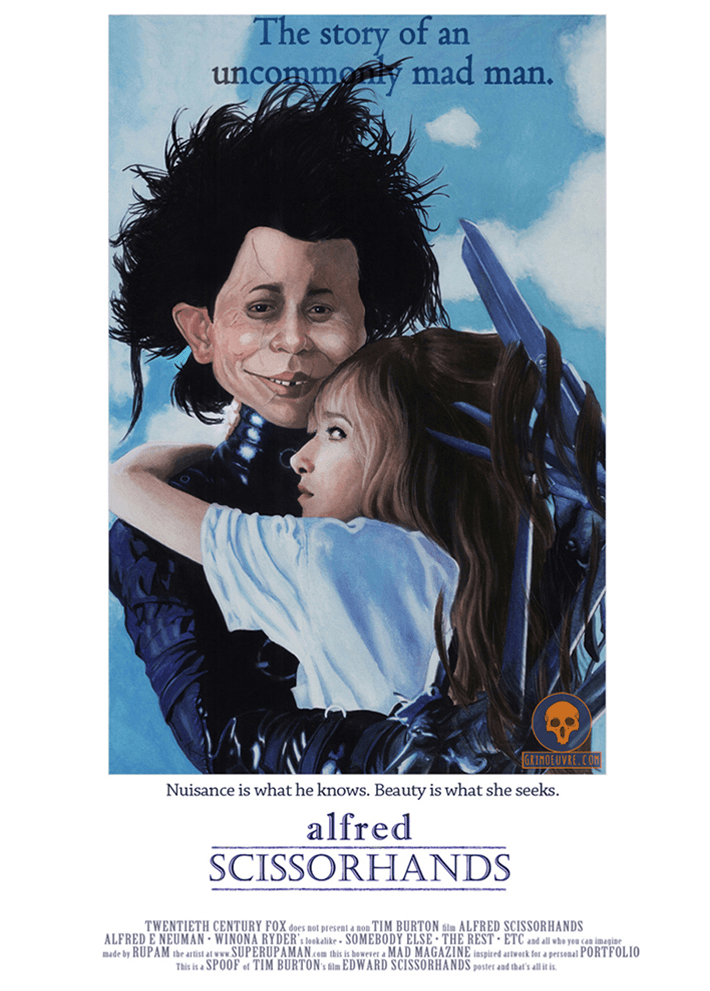 alfred scissorhands poster parody by rupam @ grimoeuvre.com