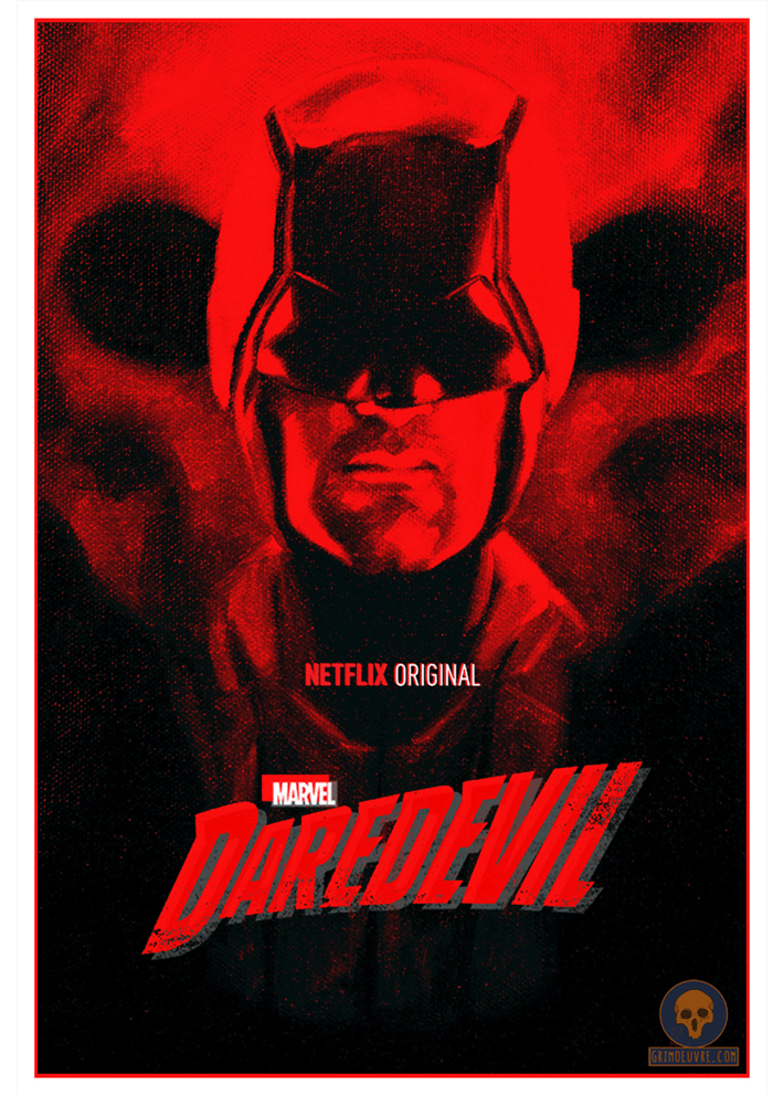 daredevil oil painting poster by rupam @grimoeuvre.com