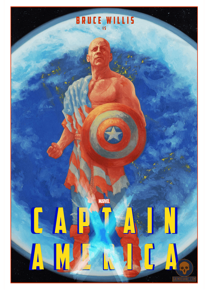 captain america poster by rupam @ grimoeuvre.com